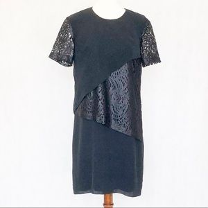 Robert Rodriguez Silk Laser Cut Shirt Sleeve Dress